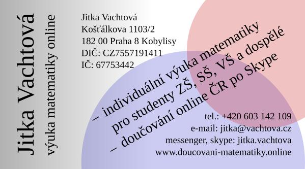 Jitka Vachtová - výuka matematiky